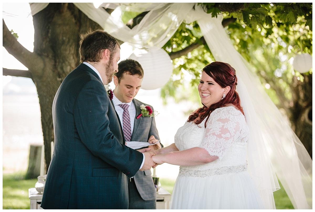 Milwaukee wedding photographer_intimate outdoor ceremony_Wisconsin Bride