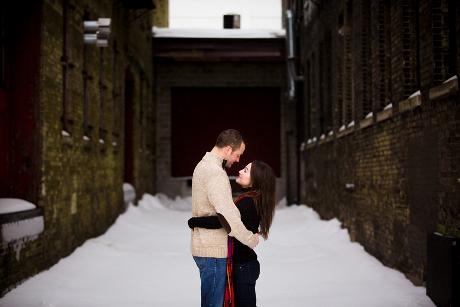 Snow Engagement Session_Milwaukee Weddings