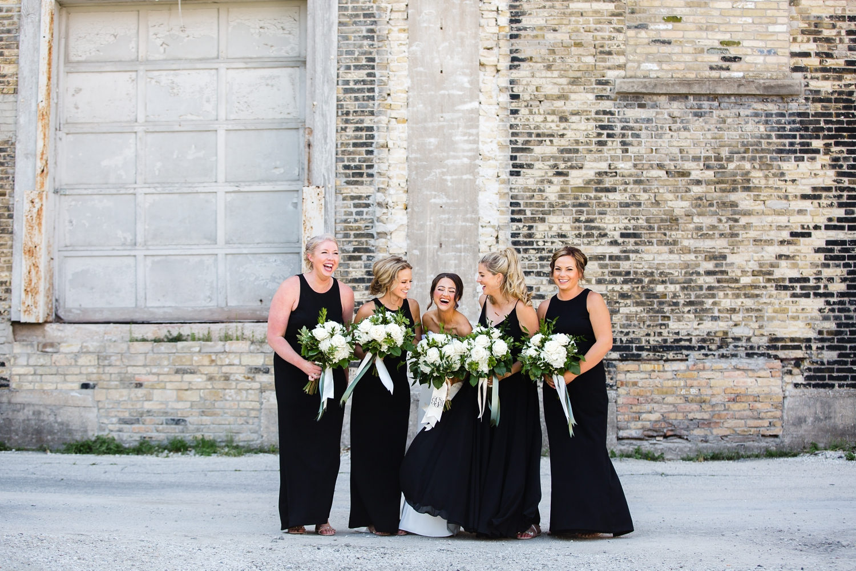 Walker's Point Wedding Pictures_Reed Street Yard Park_ Milwaukee Water Business Park_Photographer_Elegant Dresses