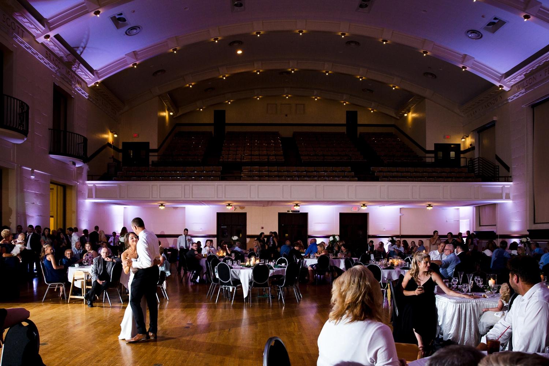 Racine Memorial Hall Wedding_Milwaukee Photographer_Elegant black and white Wedding