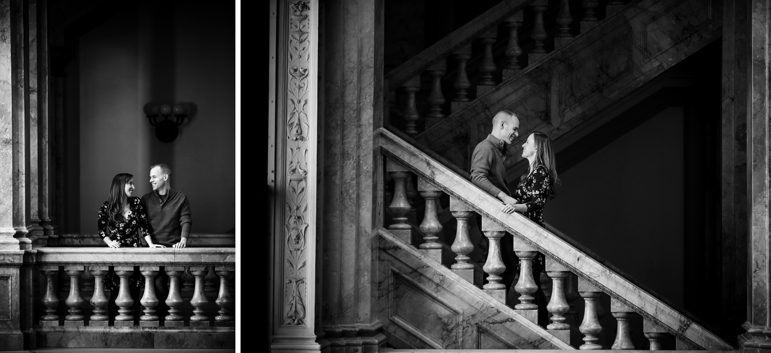 Milwaukee Central Library engagement pictures
