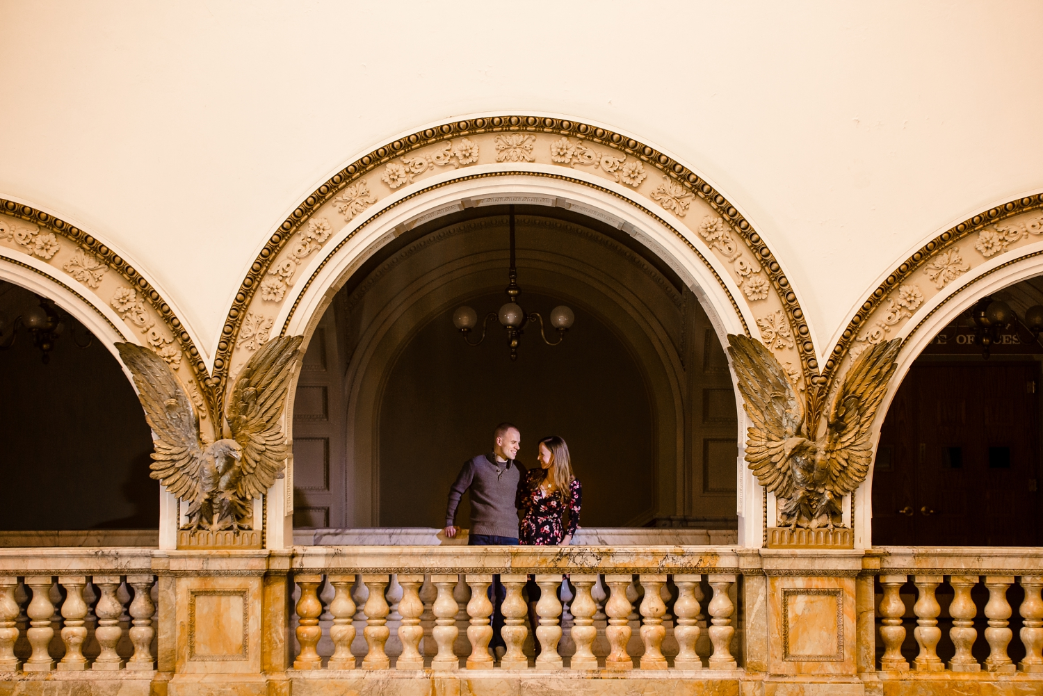 Central Library engagement pictures- architecture shot