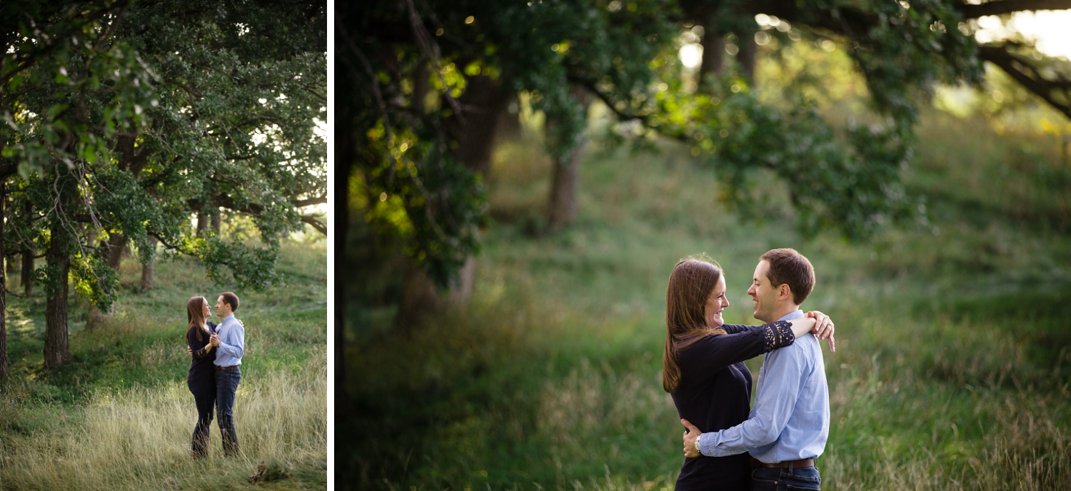 Pope farm woods engagement pictures