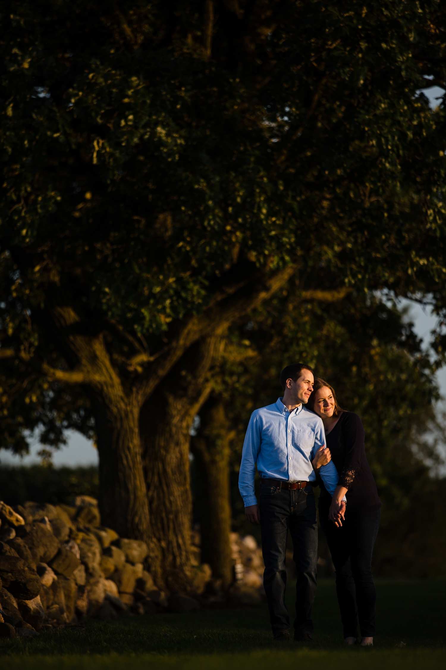 engagement session at pope farm madison WI