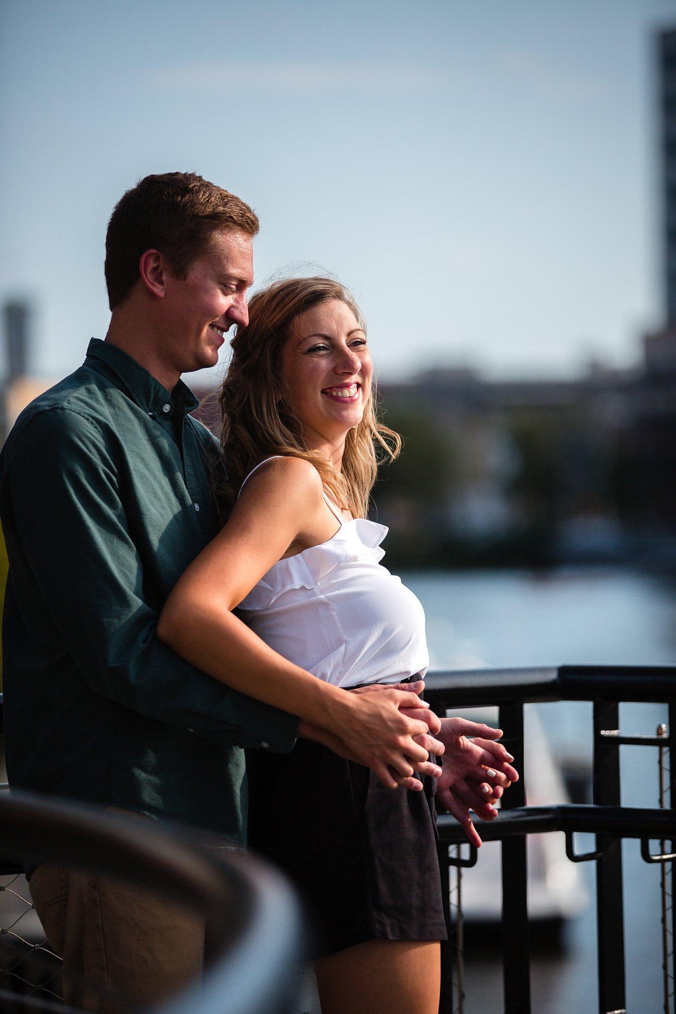 Milwaukee Riverwalk_Engagement Photographer